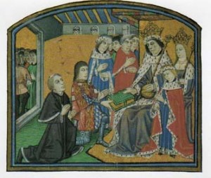 Antony presenting his book to Edward IV 300x254 The Plantagenet Portrait Gallery