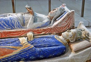 Henry II and Eleanor of Aquitqaine at Fontevrault Abbey