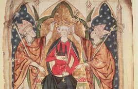 aa Henry III being crowned c British Libary Bridgeman Art Library2 The Plantagenet Portrait Gallery