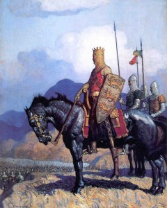 Richard I on crusade