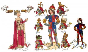 Richard III and Family from Rous' Roll